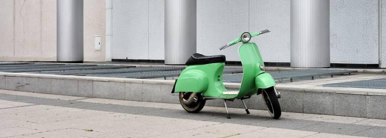 Groene scooter